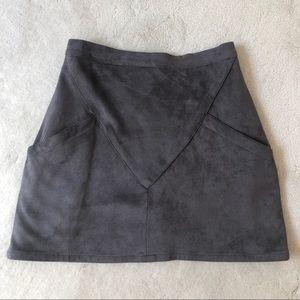 Jaase grey suede mini skirt